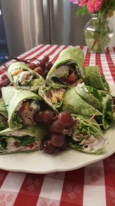 Yummy Spinach Strawberry Wraps with Strawberry Cream Cheese Spread